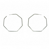 Octagonal hoop earrings (Code 0912)